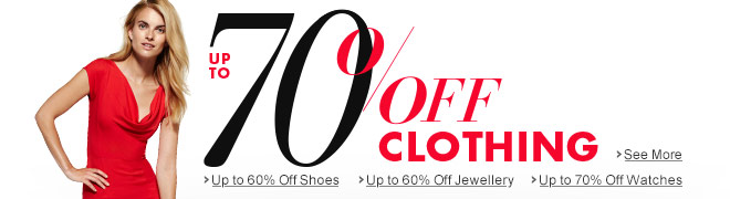 Up to 70% off Clothing