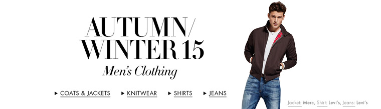 Autumn/Winter 15 | New Arrivals Men's Clothing