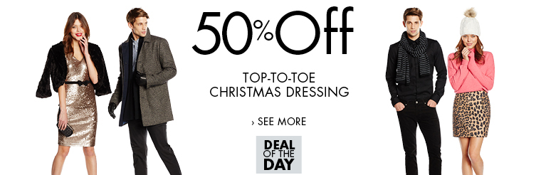 Amazon Fashion Deal of the Day | 50% Off Top-to-Toe Christmas Dressing