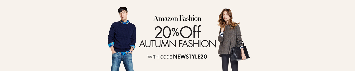 20% Off Autumn Fashion with Code 'NEWSTYLE20'