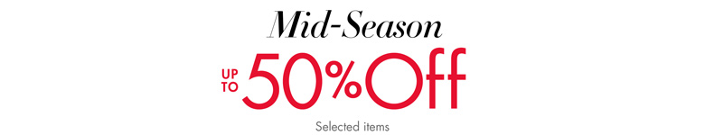 50% Off Autumn 15 Mid-Season Savings