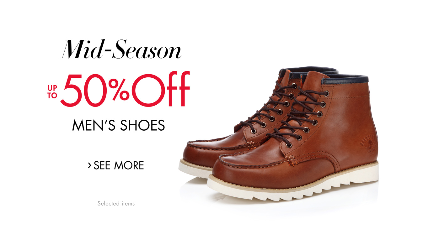 Mid-Season Savings: Up to 50% Off Men's Shoes