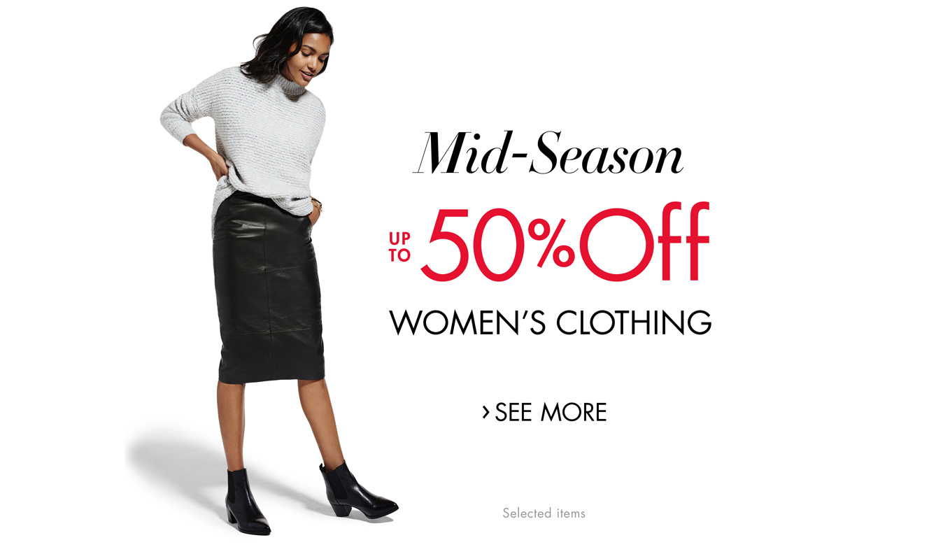 Mid-Season SALE up to 50% Off Women's Clothing