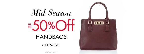 Mid-Season Savings: Up to 50% Off Handbags and Shoulder Bags