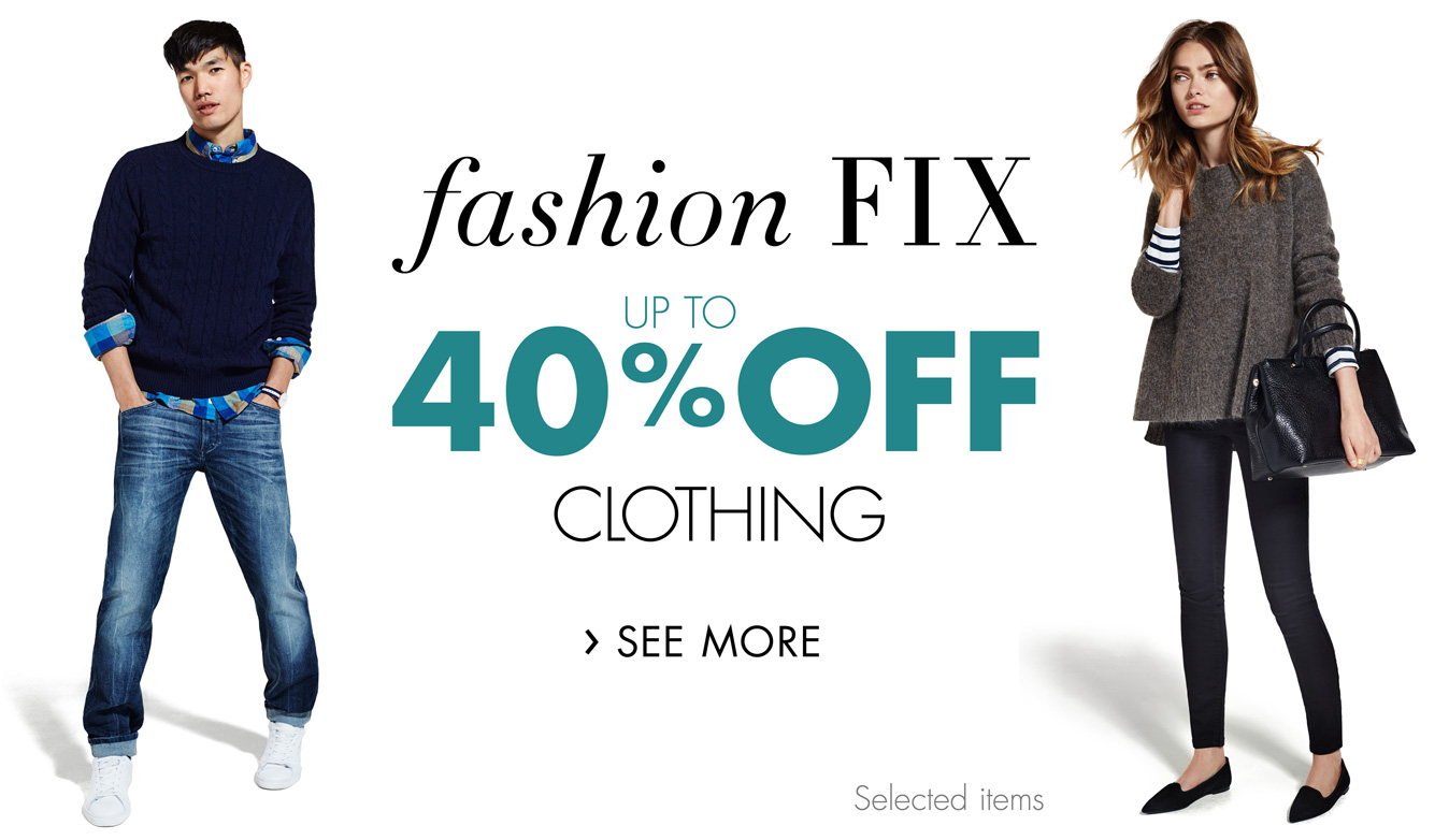Up to 40% Fashion Fix