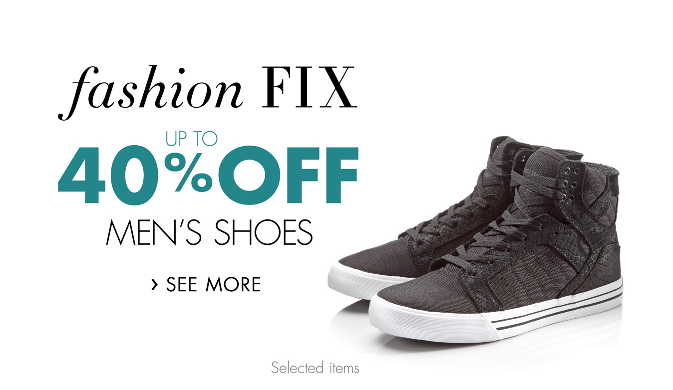 Fashion Fix: Up to 40% Off Men's Shoes
