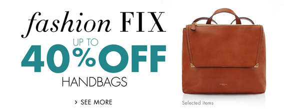 Fashion Fix: Up to 40% Off Bags