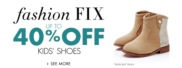 Fashion Fix: Up to 40% Off Kids' Shoes