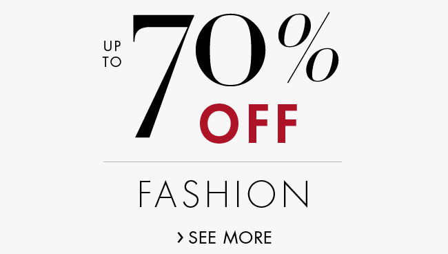 70% Off Fashion