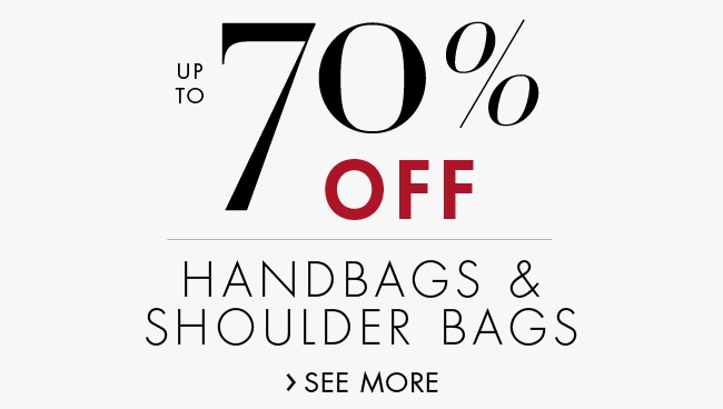 Up to 70% off Handbags & Shoulder Bags