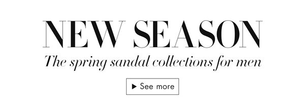 The spring sandals collections for men