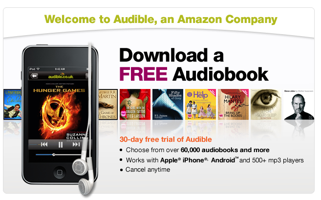 Download an audiobook to your iPod or mobile phone. Listen to digital audiobooks from audible.co.uk.