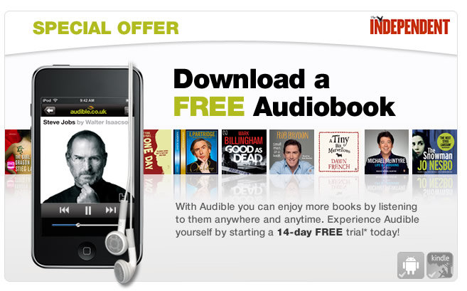 Download a free audiobook courtesy of The Independent and Audible.co.uk