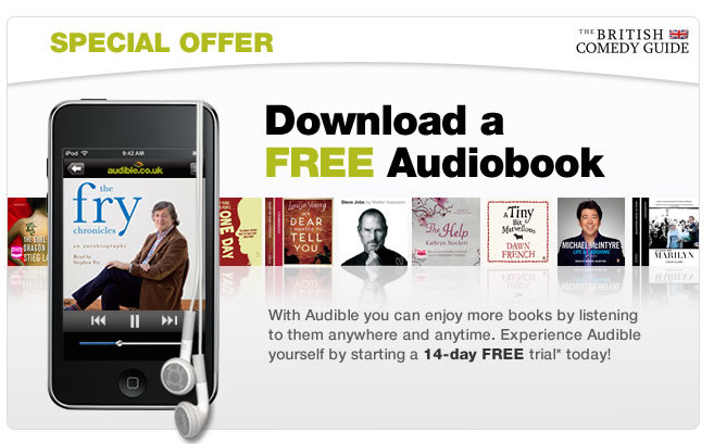 Download a free audiobook courtesy of Comedy.co.uk and Audible.co.uk