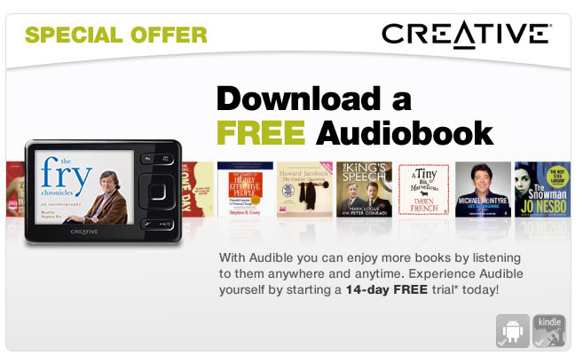 Download a free audiobook courtesy of Creative and Audible.co.uk