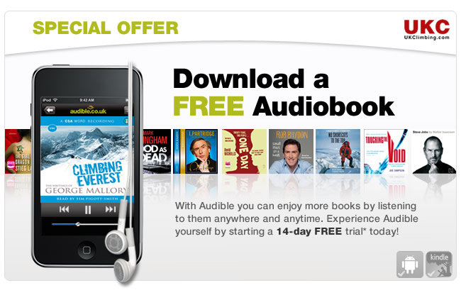 Free audiobook download for UKC Members courtesy of Audible.co.uk