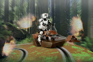 Scout trooper on track