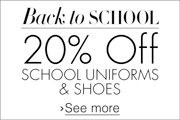 20% Off School Uniforms and Shoes