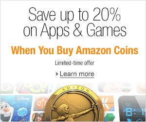 Amazon Coins; Save up to 20% on Apps and Games