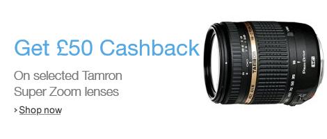 Tamron Super Zoom lens Cashback