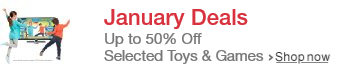 Toys and Games at January Prices