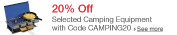 Save 20% When You Spend £50 or More on Selected Camping Equipment with Code CAMPING20