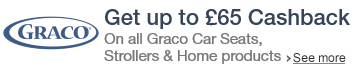 Up to £65 cashback on Graco products