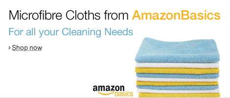 AmazonBasics Microfibre Cloths