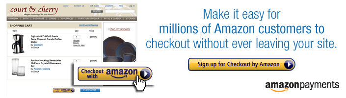 Checkout by Amazon is a complete checkout service for e-commerce sellers.