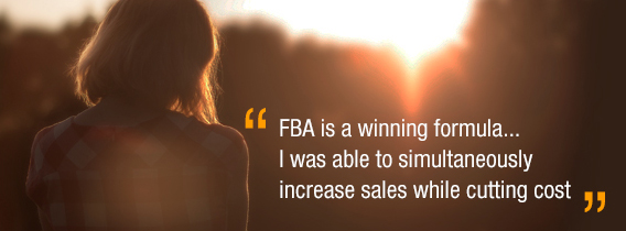 FBA is a winning formula... I was able to simultaneously increase saleswhile cutting cost