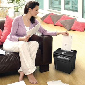 Fellowes Powershred P-48C Cross-Cut personal shredder with Safety Lock