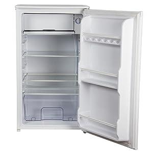Igenix IG3920 A+ Energy Rated 48cm White Under Counter Fridge, Chill box, reversable doors