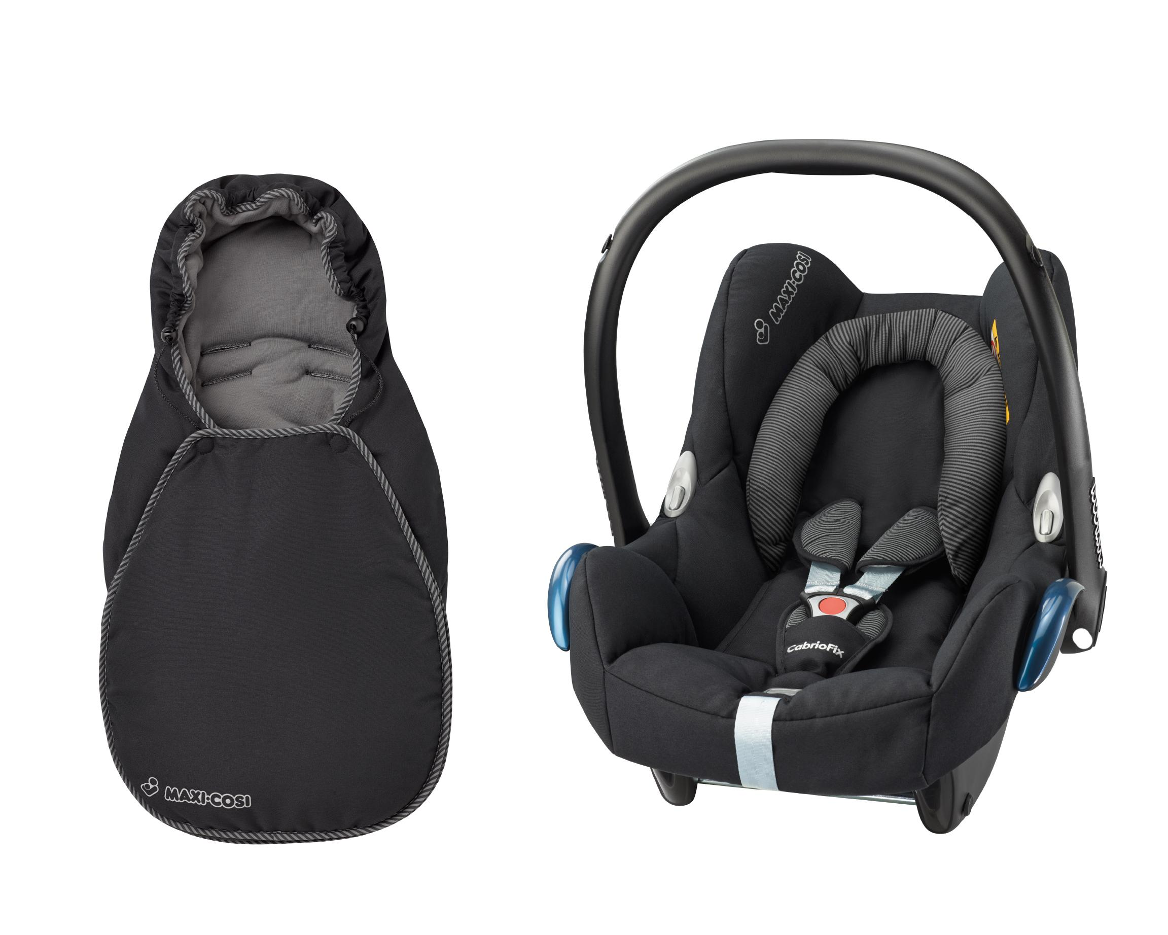 maxi cosi footmuff cabriofix black raven baby. Black Bedroom Furniture Sets. Home Design Ideas