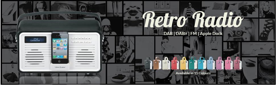 vq formerly view quest retro style colourgen dab dab fm. Black Bedroom Furniture Sets. Home Design Ideas