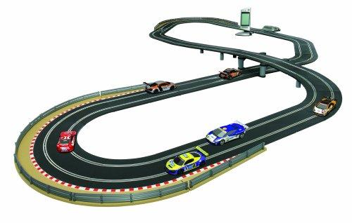 Race Track With  Lanes Background Cars