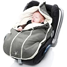 Wallaboo Footmuff Faux Suede and Soft Sheerling, for Newborn up to 12 Months,