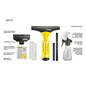 K rcher wv70 window vac window cleaning vacuum kit for Window karcher