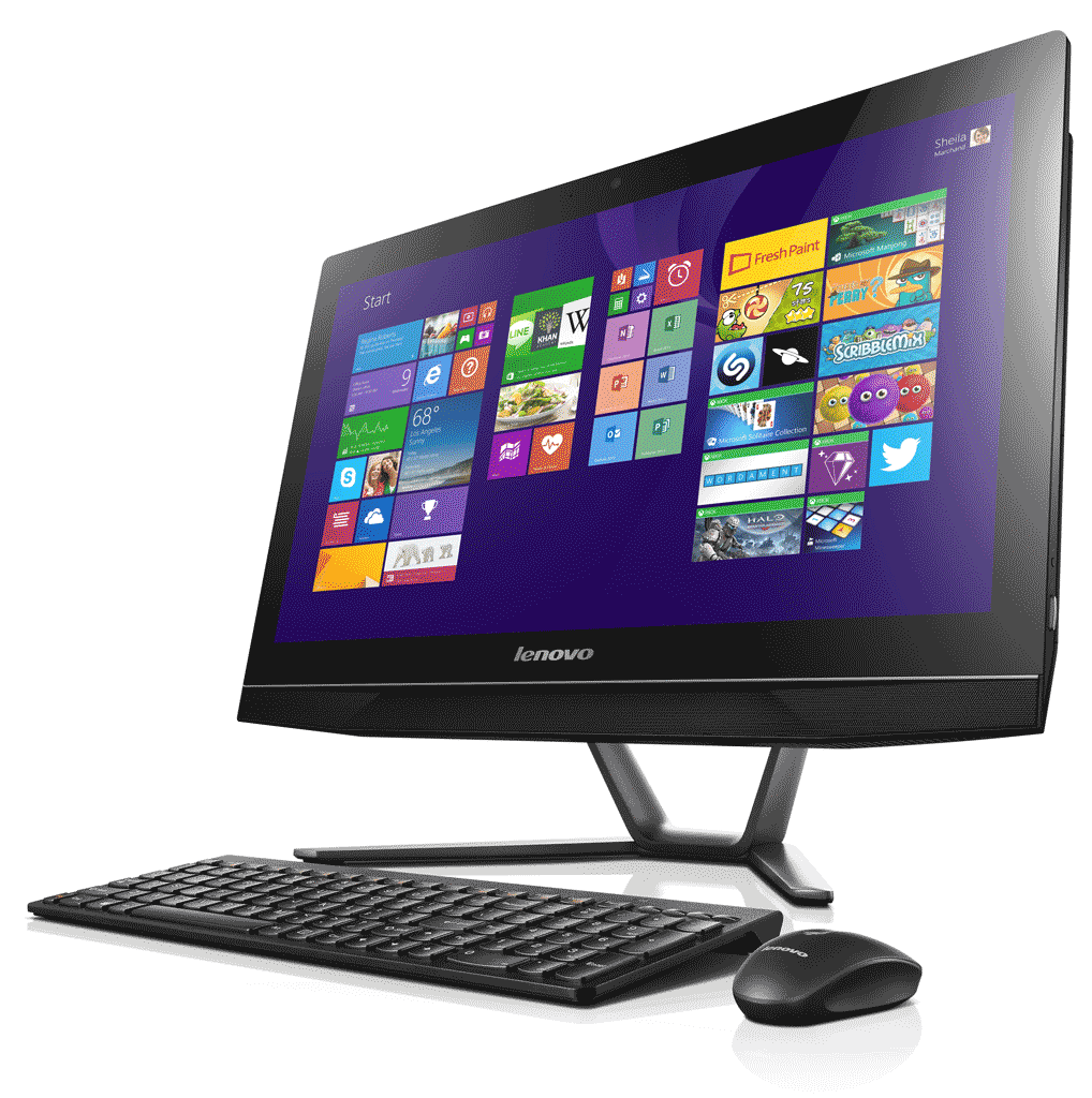 lenovo b40 21 5 inch touchscreen all in one desktop pc black intel core i5 4460t 1 9ghz. Black Bedroom Furniture Sets. Home Design Ideas
