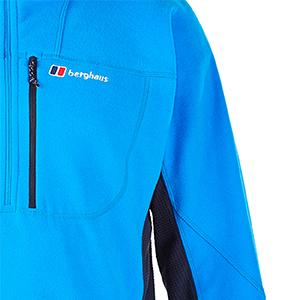 half zip prism micro fleece pocket, half zip prism micro fleece chest pocket