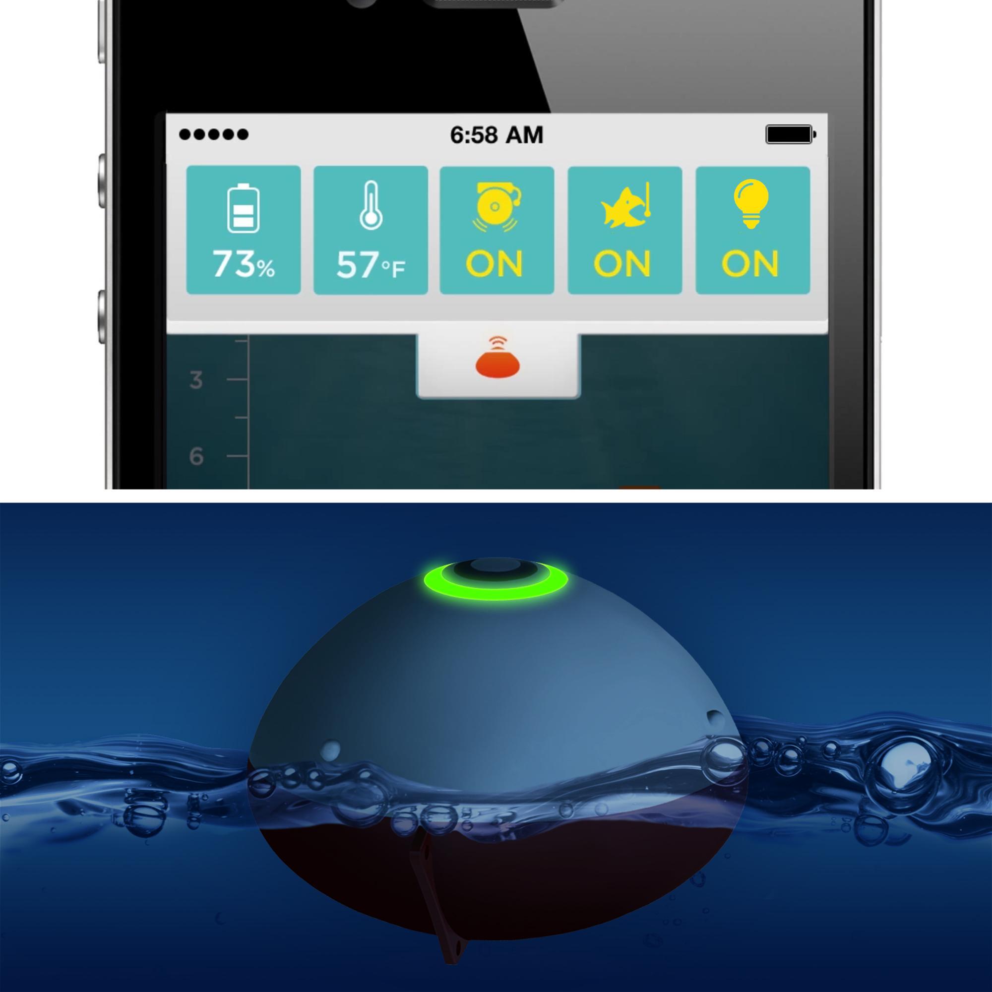 Ibobber castable bluetooth smart fish finder brand new for Bluetooth fish finder