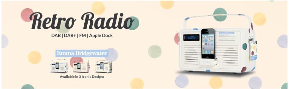view quest retro emma bridgewater polka dot dab radio. Black Bedroom Furniture Sets. Home Design Ideas