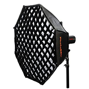 PhotoSEL Octagonal Softbox with Grid Bowens S-Type Mount