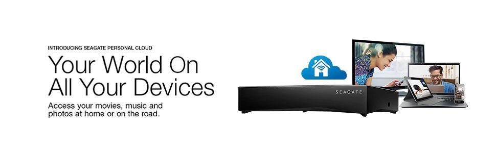Seagate Personal Cloud 6tb 2 Bay 2x 3tb Home Media