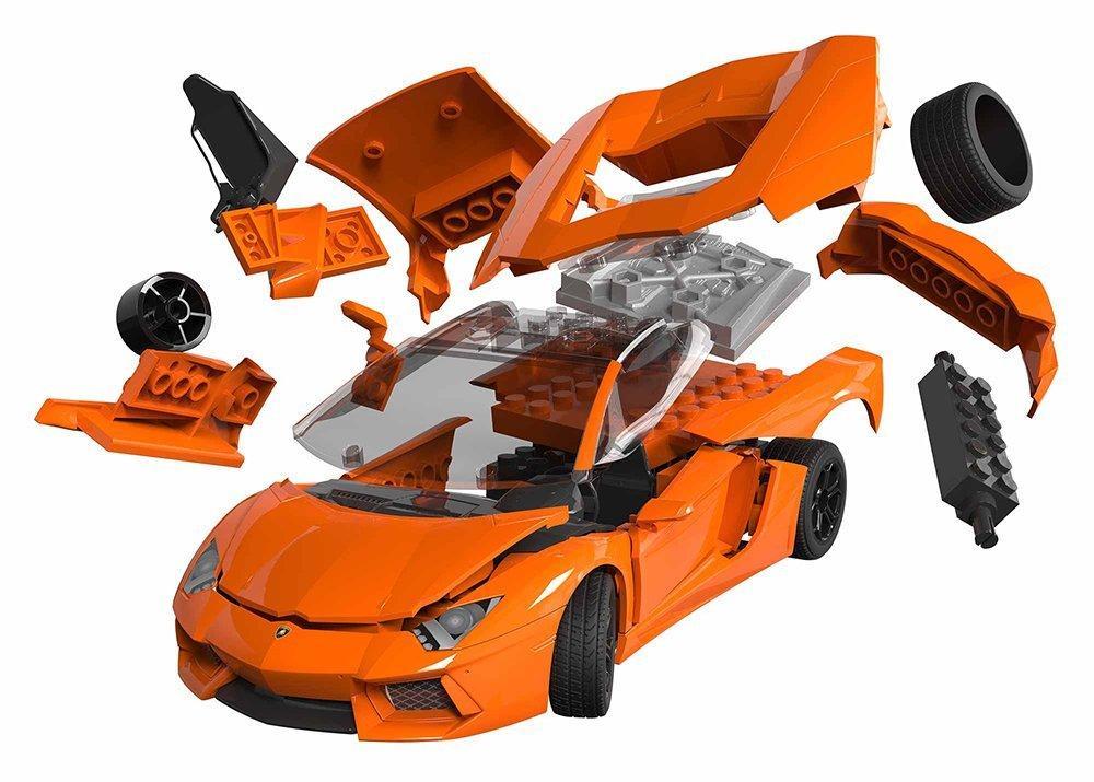 build lamborghini aventador car model kit no glue no paint just build ...