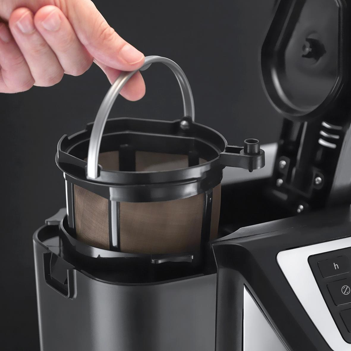 Quietest Coffee Maker With Grinder : Russell Hobbs 22000 Chester Grind and Brew Coffee Maker Stainless Steel Black