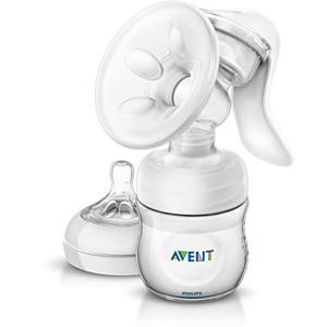 Philips AVENT SCF330/20 Comfort Manual Breast Pump with 4oz Bottle for 0-6 Month