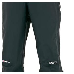 berghaus paclite trousers side zips, berghaus paclite pants side zips