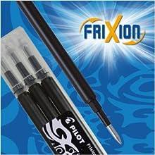 FriXion, Erasable, rollerball, gel pen, pen, writing, Pilot Pen, refills