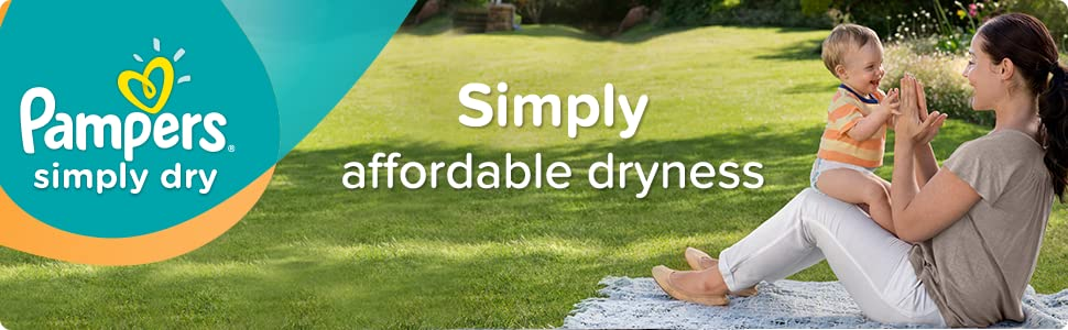 Pampers Simplry Dry nappies