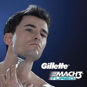 Gillette MACH3 Turbo - man shaving